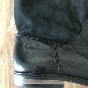 Coach Shoes - Coach Over The Knee Suede/Leather Boots